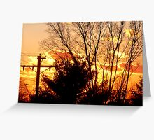 Wintry Golden Weather Greeting Card