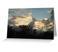 designer clouds Greeting Card