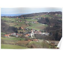 Wine Country in Southern Austria Poster