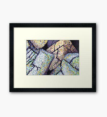 Colorful Boulders * Framed Print