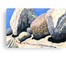 c12-A Row of Boulder Personalities  Canvas Print