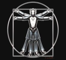 Cyber-Vitruvian Man Kids Clothes