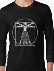 Cyber-Vitruvian Man Long Sleeve T-Shirt