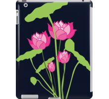 Pink color water lily flower iPad Case/Skin
