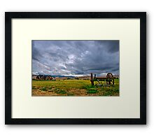 A storm is coming! Framed Print