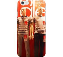 Two male mannequin in a showcase iPhone Case/Skin