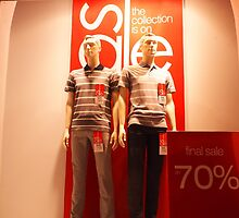 Two male mannequin in a showcase by vladromensky