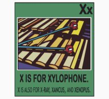 X IS FOR XYLOPHONE by SOL  SKETCHES™