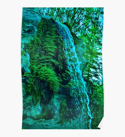 A Manmade Waterfall Poster