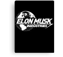 Elon Musk Industries Logo Black Canvas Print
