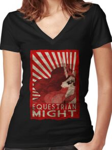 Equestrian Might Women's Fitted V-Neck T-Shirt