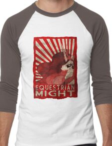 Equestrian Might Men's Baseball ¾ T-Shirt