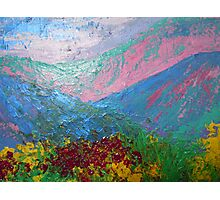 landscape-pink mountains Photographic Print