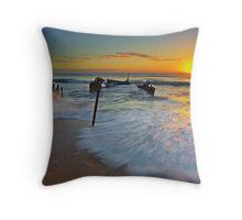 Dicky Beach Throw Pillow