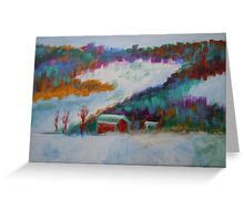 landscape-winter mountains Greeting Card