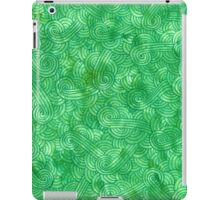 Green swirls doodles iPad Case/Skin