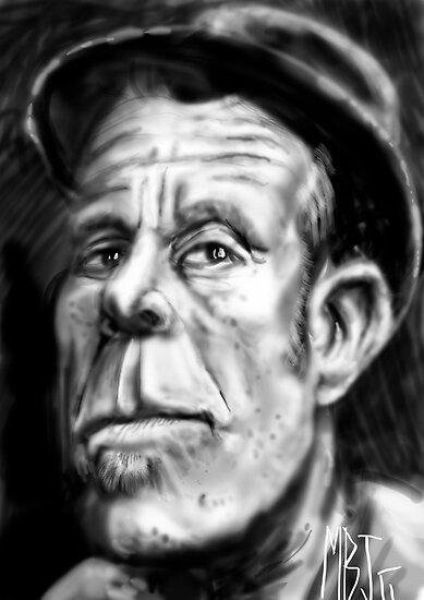 Tom Waits Caricature by Matt Bissett-Johnson