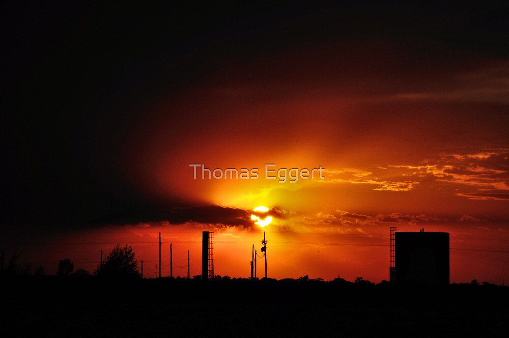 Plainview,TX. Sunset by Thomas Eggert