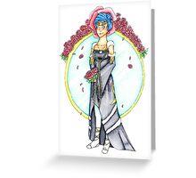 Norn Wedding Dress Greeting Card