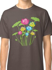 Colorful water lily flowers Classic T-Shirt