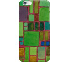 Collection of Rectangles with Blue Striped Staff iPhone Case/Skin