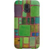 Collection of Rectangles with Blue Striped Staff Samsung Galaxy Case/Skin