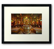 Godstatues in Man Mo Temple Framed Print