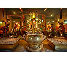 Godstatues in Man Mo Temple Photographic Print