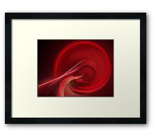 Bloodline Abstract Flame Fractal Framed Print