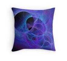 Bloop Abstract Fractal Artwork Throw Pillow