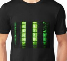 Decorative wall with green lights at night Unisex T-Shirt