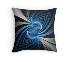 Bluebirds Abstract Fractal Art Throw Pillow