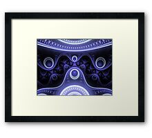 Blue Moon Abstract Fractal Framed Print
