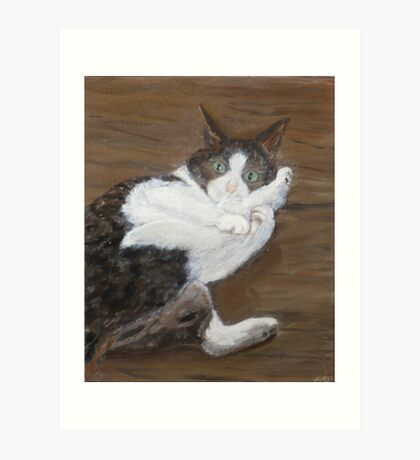 Concern - cat portrait Art Print