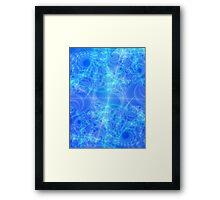 Celestial Roadmap Abstract Fractal Framed Print