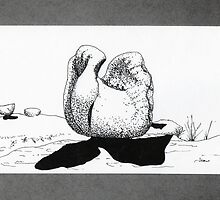 Henry Moore style BOULDER by James Lewis Hamilton