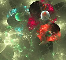 Cosmic Clutter Abstract Fractal Artwork by Archetypus
