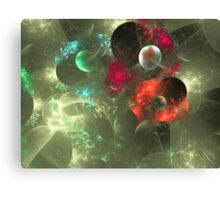Cosmic Clutter Abstract Fractal Artwork Canvas Print