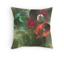 Cosmic Clutter Abstract Fractal Artwork Throw Pillow