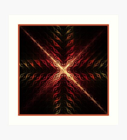 Crux Abstract Fractal Artwork Art Print