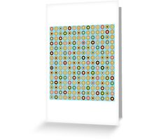 Flowers on pastel blue Greeting Card