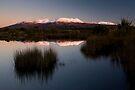 Volcanic Plateau Glow by Michael Treloar