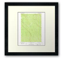USGS Topo Map Oregon Location Butte 280558 1968 24000 Framed Print