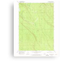 USGS Topo Map Oregon Location Butte 280558 1968 24000 Canvas Print