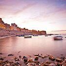 Calm sunset in Trapani bay by mosinski