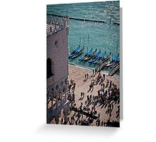 View of Doge's Palace from the Campanile tower Greeting Card