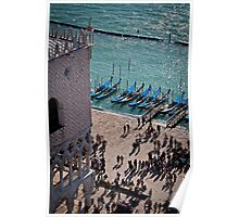 View of Doge's Palace from the Campanile tower Poster