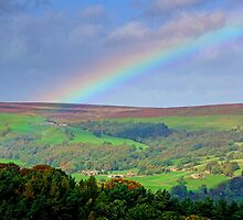 Rainbow Over Nidderdale - HDR by Colin  Williams Photography