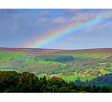 Rainbow Over Nidderdale - HDR Photographic Print