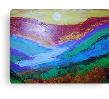 landscape-sunrise on the valley Canvas Print
